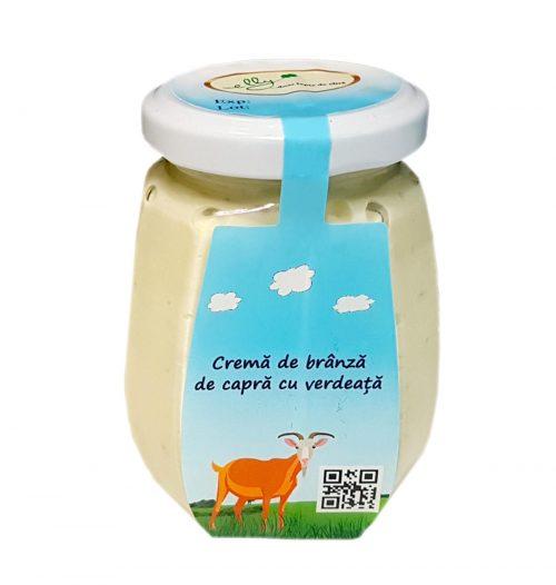 Cremă-brânză-de-capră-cu-verdeață