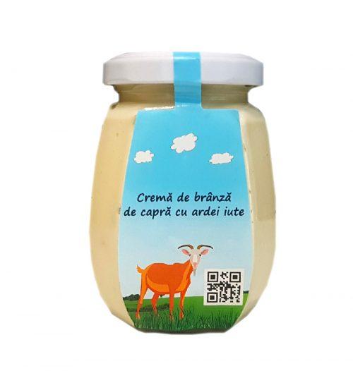 Cremă-de-brânză-de-capră-cu-ardei-iute