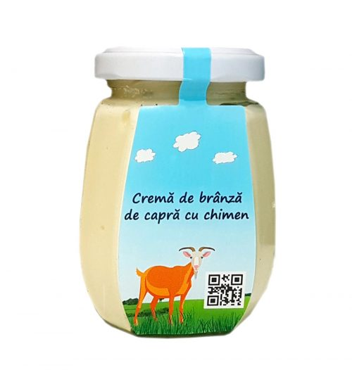Cremă de brânză de capră cu chimen