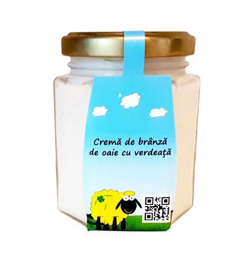 cremă-de-brânză-de-oaie-cu-verdeață